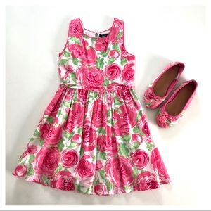Rose Print Dress & Matching Flats